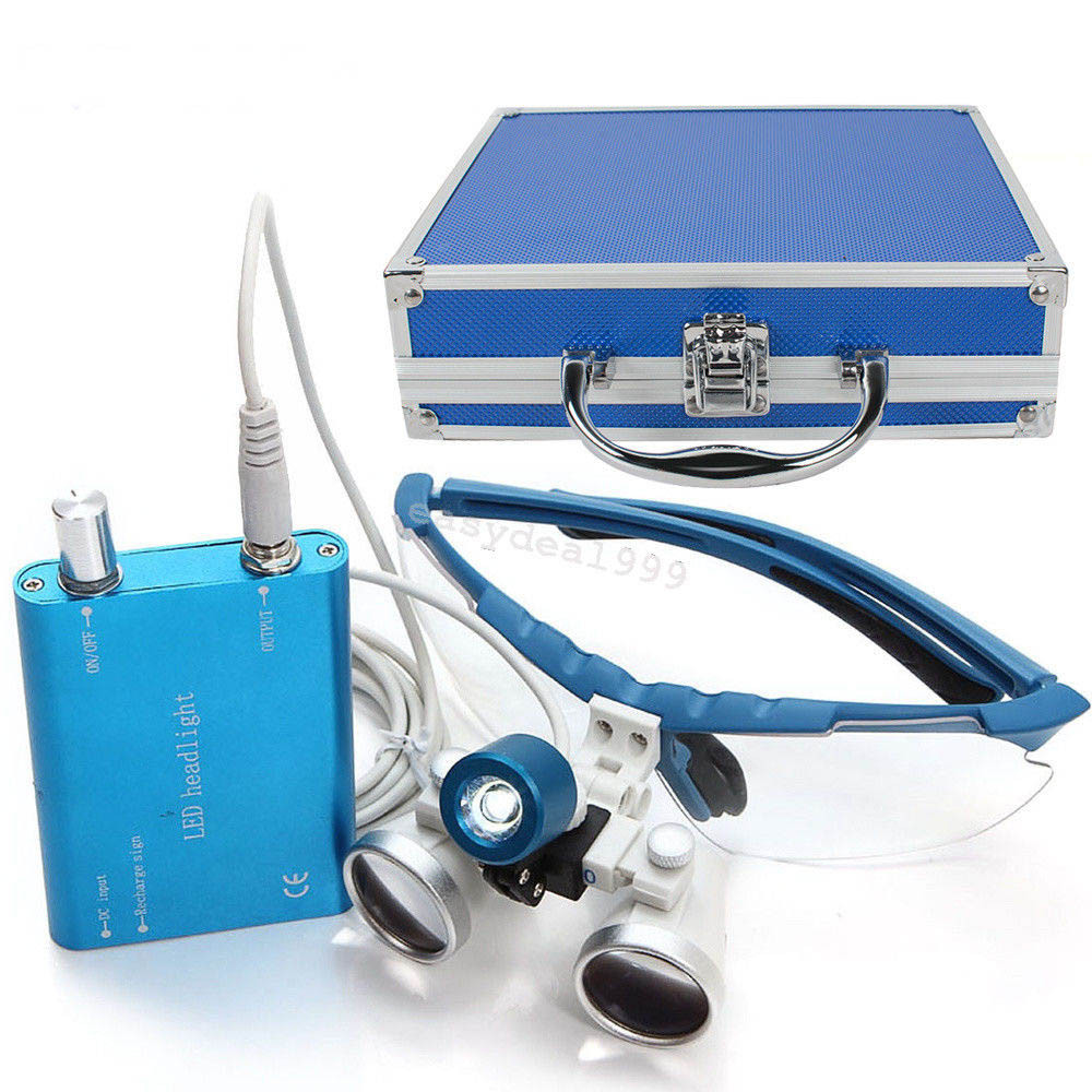 Комплект бинокуляры 3.5x-420 + подсветка, blue NaviStom