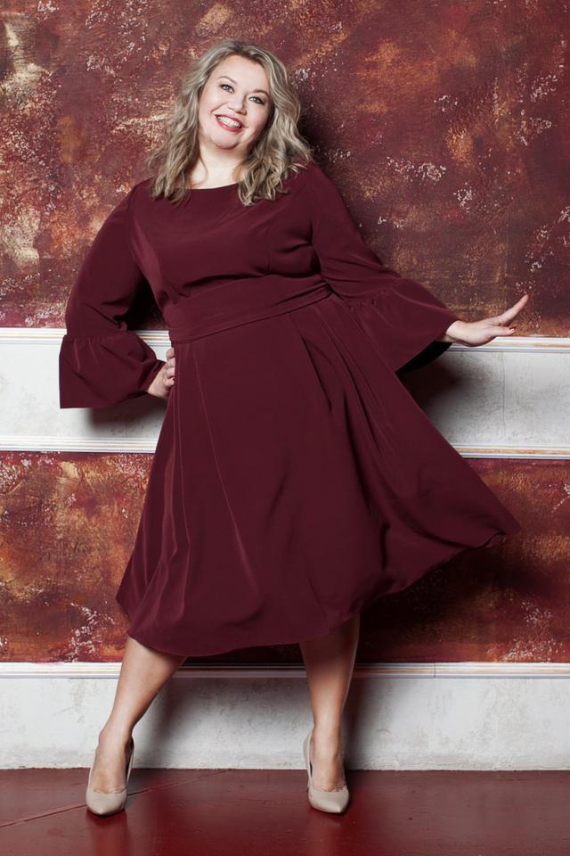 вечерние платья для полных 2018