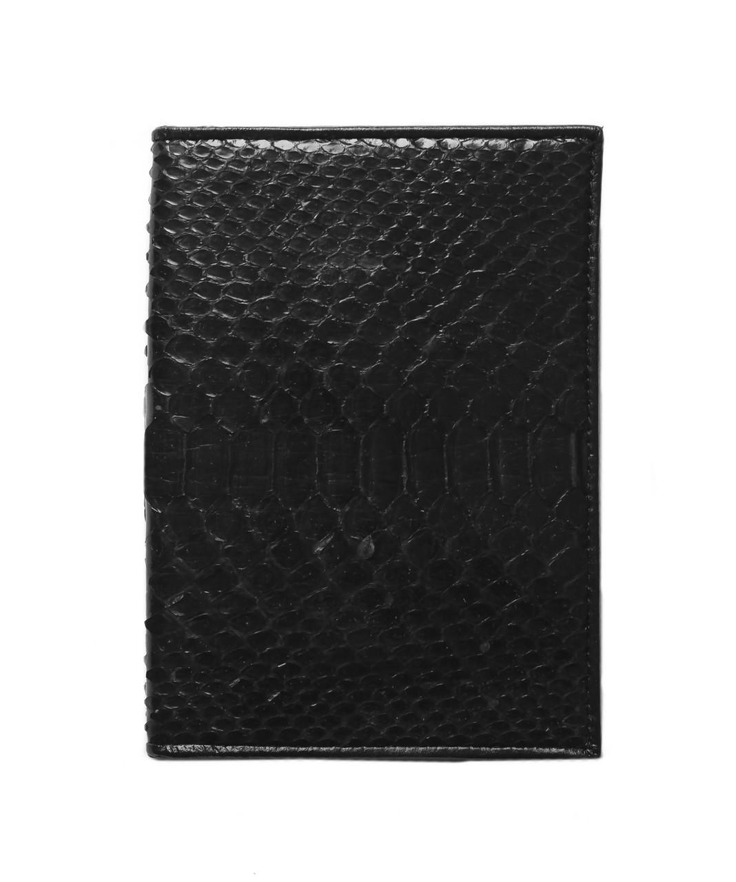 Обложка для паспорта  Ekzotic Leather Черный (sp01)