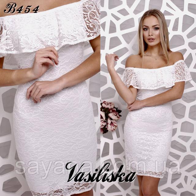 68e9b16b105 Женское нарядное платье с воланом в расцветках. ВВ-43-0218