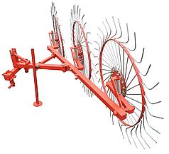 Грабли колесно-пальцевые Солнышко на 3 колеса