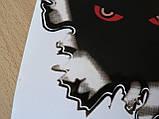 Наклейка пп Глазки 147х135мм на авто виниловая цветная клякса, фото 2