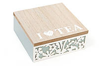 Коробка деревянная (6 отделений) для чая с резным узором BonaDi 443-552