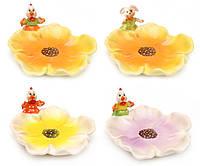 Блюдо пасхальное Цветок 18.5см, 4 вида BonaDi 23-E149