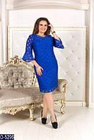 Красивое нарядное платье полупрозрачный верх в горошек купить недорого от производителя большой размер 50-54