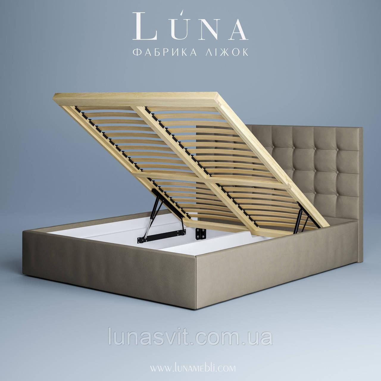 кровать двуспальная мягкая бруклін 180200 с подъемным механизмом
