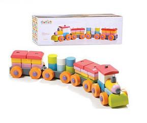 """Деревянная игрушка LP-1 (11681) """"Поезд"""" ТМ Cubika / Royaltoys"""