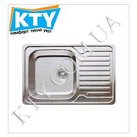Мойка прямоугольная Cristal Katana Plus UA7203ZS (780 x 500 x 180, с полкой) Цвет: Satin;