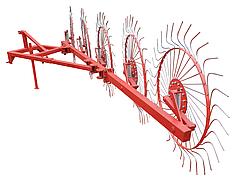 Грабли колесно-пальцевые Солнышко на 5 колеса