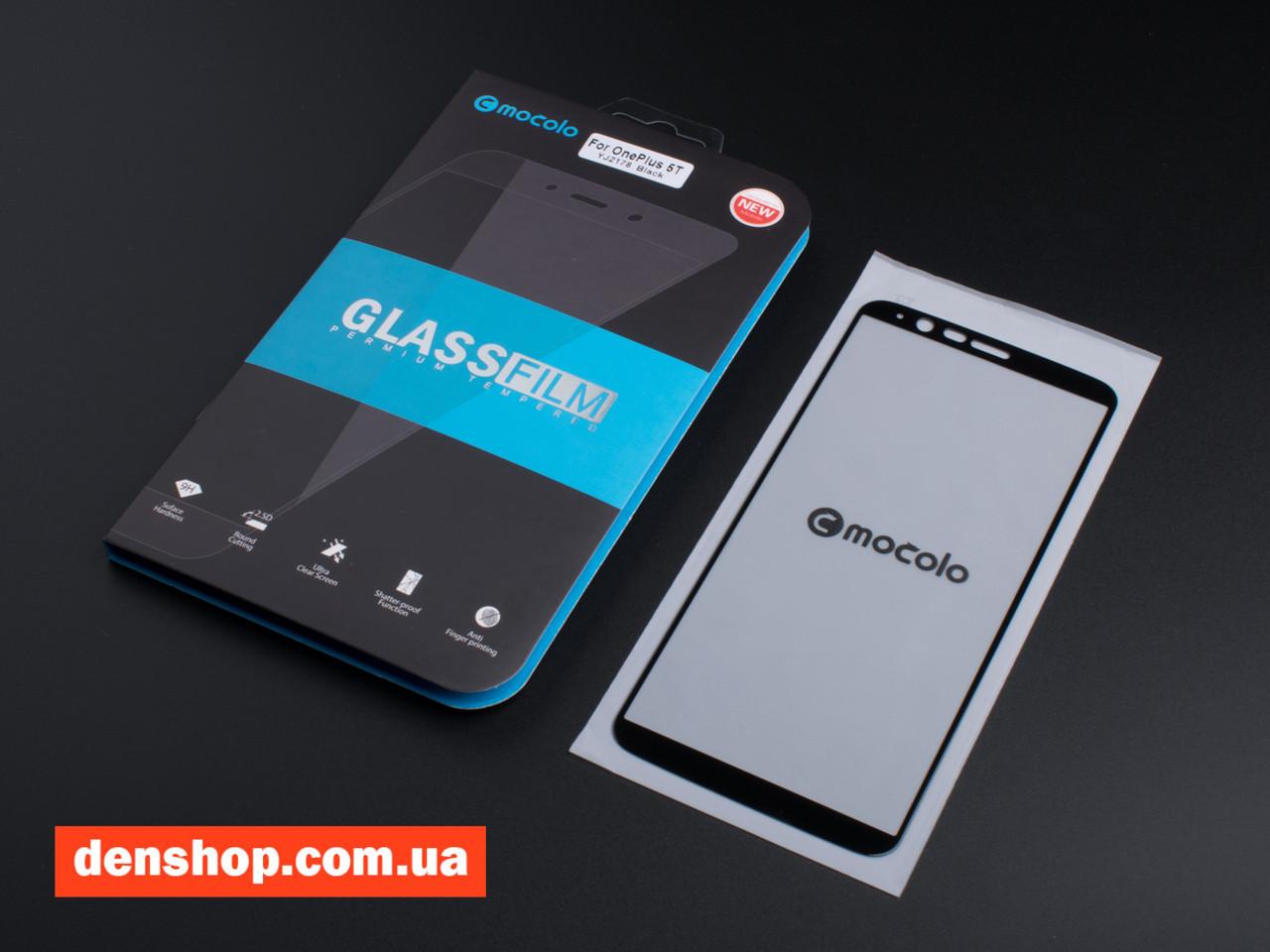 new concept 535cf c1a24 Защитное стекло Mocolo для OnePlus 5T - Full Cover (Black)