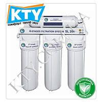 Фильтр для очистки воды Bio+ systems SL204 (четыре степени очистки, c краником на мойку)