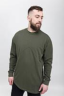 Свитшот мужской с принтом удлиненный Armor K олива (кофты мужские, свитшоты мужские)