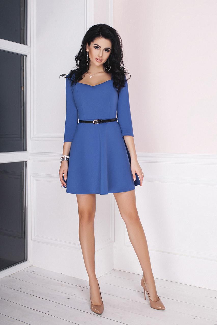 Трикотажное Платье Мэриан синее