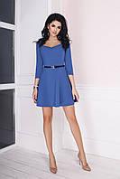 Трикотажное Платье Мэриан синее, фото 1