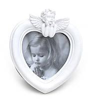 Рамка в форме сердца с ангелом белая BonaDi 489-F109