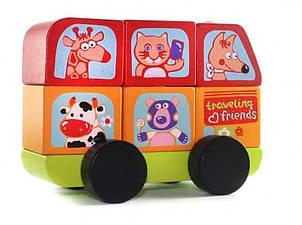 """Игрушечный автобус LM-10 (13197) """"Веселые животные"""" ТМ Cubika / Royaltoys"""