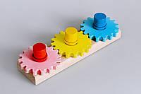 """Деревянная игрушка головоломка """"Винтики и шестеренки"""", фото 1"""