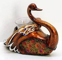 Декоративный подсвечник со свечой Лебедь 17см BonaDi 219-P99