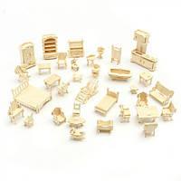 3D Деревянный конструктор. Набор кукольной мебели