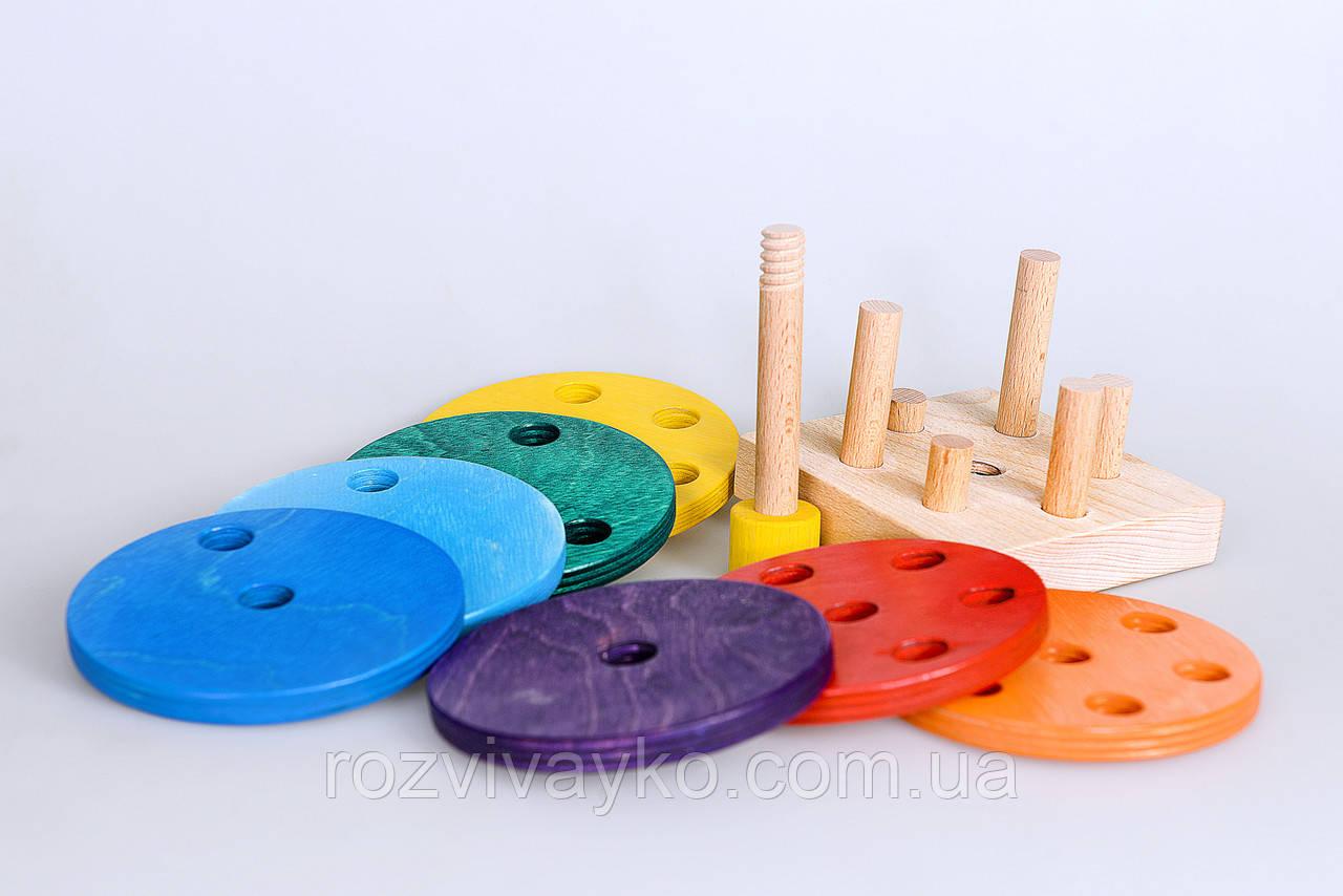 """Деревянная игрушка пирамидка """"Ребус"""""""