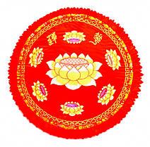 Подушка для медитации с поролоном большая. Красная