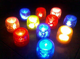 Сенсорная электронная свеча с мерцающими силуэтами (electronic candle)
