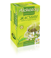 Чай зеленый с жасмином пакетированный Alokozay 25 пак.