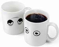 Кружка чашка Просыпайся! с открывающимися глазками
