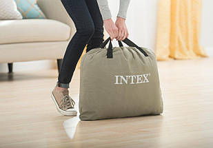 Надувная кровать Intex 64414 (203х152х46) - электронасос., фото 3