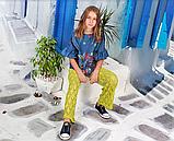 Салатовые брюки для девочки тм Моне р-р 128,134,140,146,152, фото 2