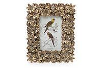 Рамка для фото 19*24см Цветы, цвет - состаренное золото BonaDi 450-101