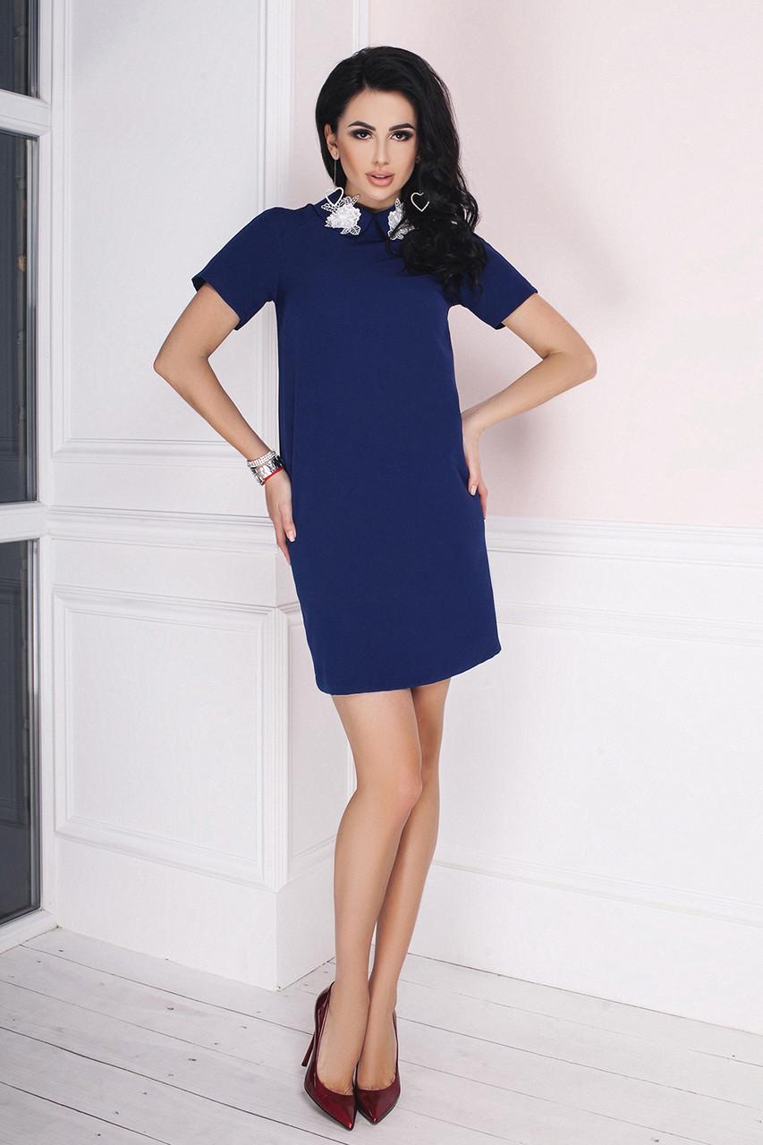 Платье мини Лилиан темно-синее