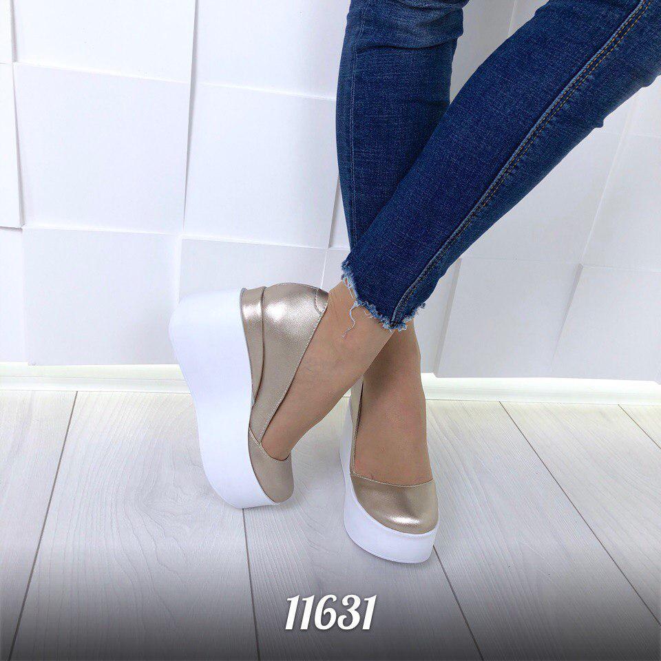 Туфли Orlando на танкетке из натуральной кожи  продажа, цена в Ивано ... c6d53e43496