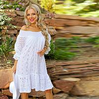 Шикарное летнее платье с рукавом до локтя  454 F