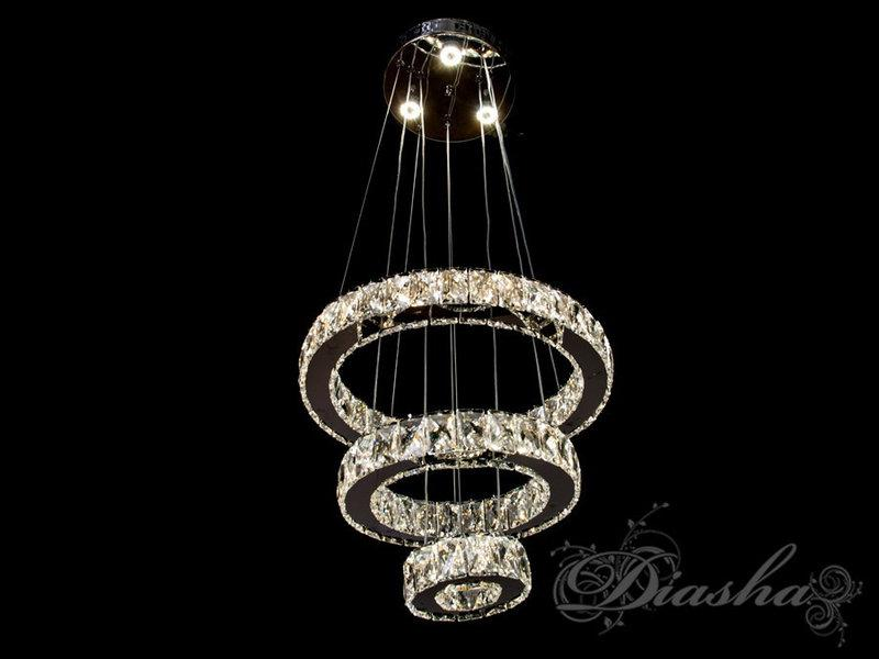 Хрустальная светодиодная подвесная люстра D8016/400+300+150