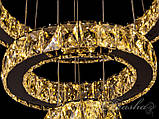 Хрустальная светодиодная подвесная люстра D8016/400+300+150, фото 4