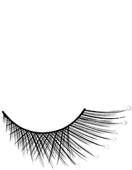 Накладные ресницы с жемчужинами S 2