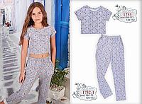 Летние  брюки для девочки  ТМ МОНЕ р-р 122,128,134,140, фото 1