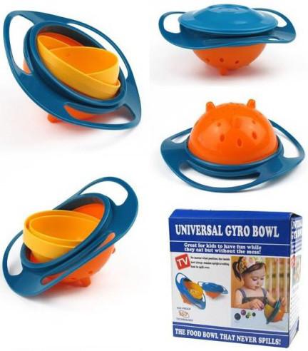 Тарелка непроливайка нерассыпайка Gyro Bowl