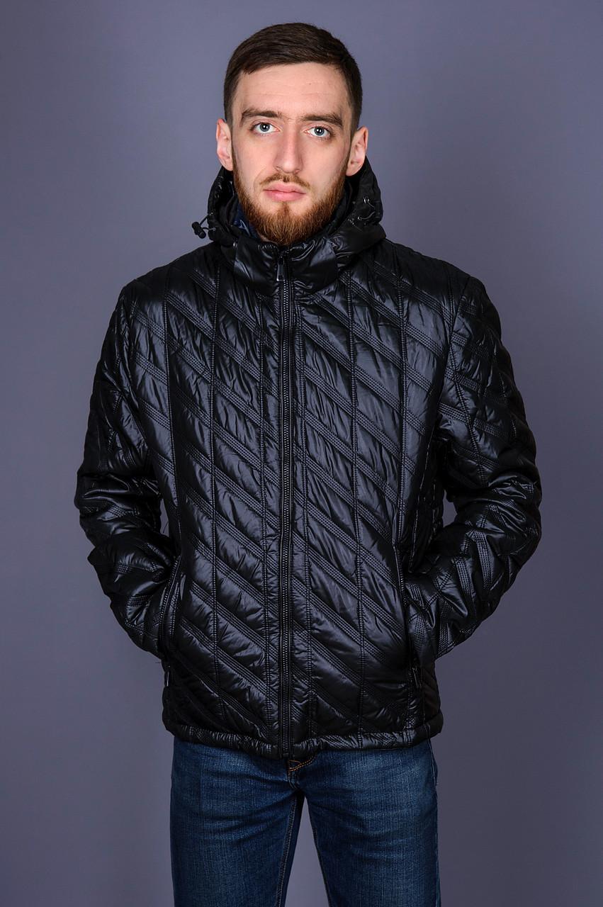 Чоловіча демісезонна стьобана куртка Black Wolf, чорного кольору