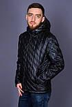 Чоловіча демісезонна стьобана куртка Black Wolf, чорного кольору, фото 2