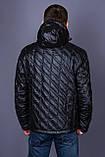 Чоловіча демісезонна стьобана куртка Black Wolf, чорного кольору, фото 3