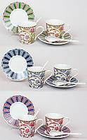 Набор чайный 4 пр.: 2 чашки + 2 ложки + 2 блюдца BonaDi 321-852