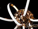 Современная светодиодная люстра в золотом цвете, фото 4