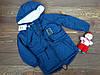 """Стильная куртка-парка """"Oh My God"""" для мальчика синяя р.110-128"""
