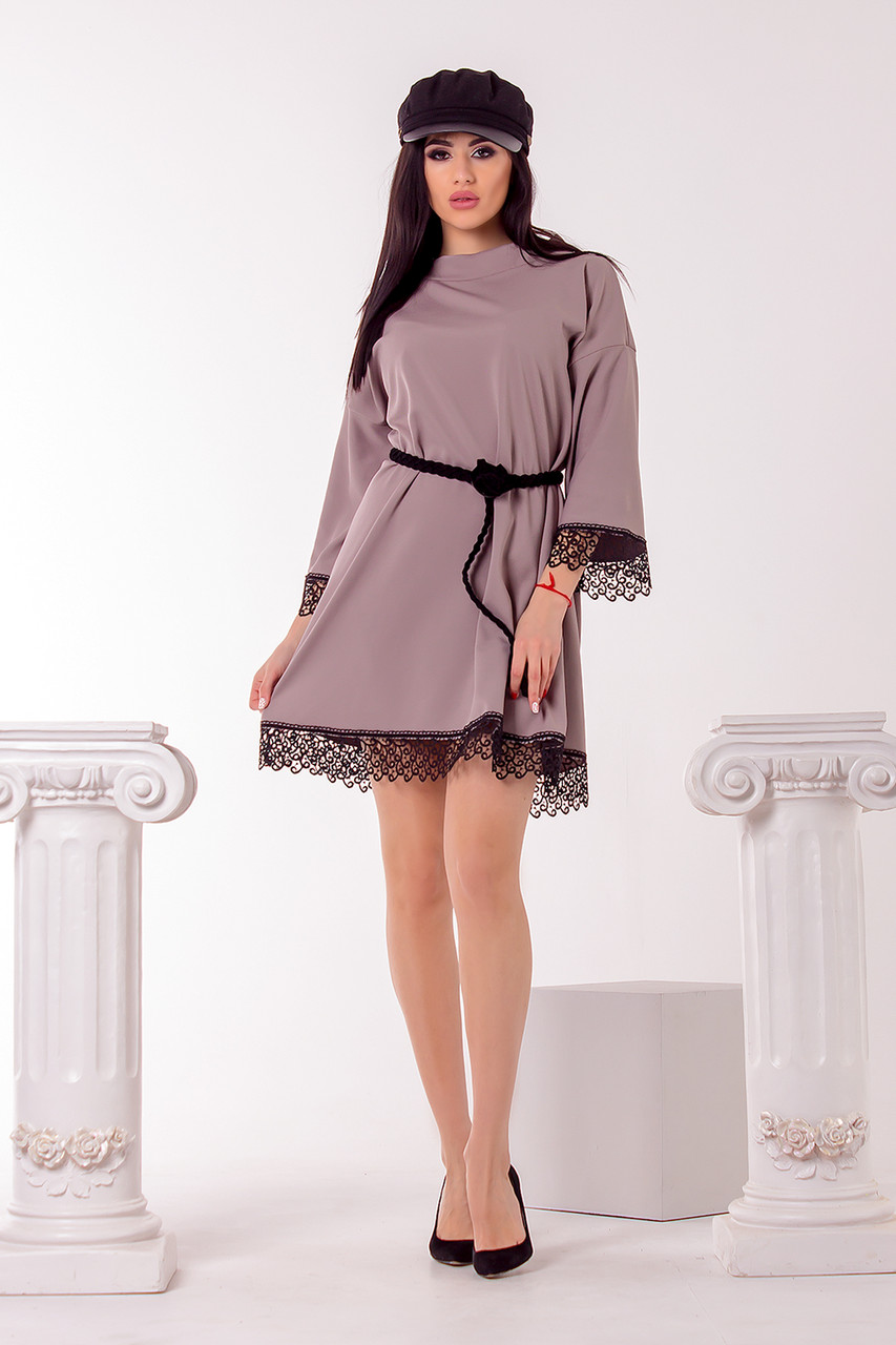 Стильное платье 3708