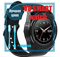 Умные часы телефон Lemfo Smart Watch V8 оригинал, bluetooth, камера, плеер, шагомер