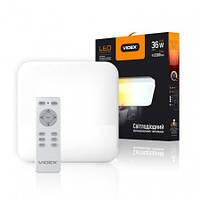 LED светильник функциональный  квадрат VIDEX 36W 2700-6500K 220V