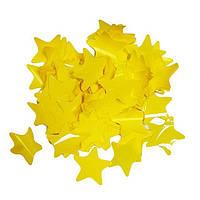 Конфетти звездочки, желтые, 50 грамм