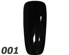 Гель лак Adore № 001 черный, 9 мл